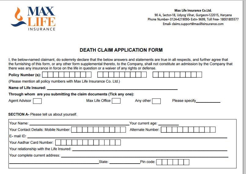 health insurance tax claim form